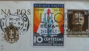 Erinnofilia-chiudilettera-Italia-1935-Per-i-tubercolosi-poveri-su-c-p