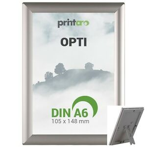5 x DIN A6 OPTIFrame Alu-Klapprahmen 14mm Profil inkl. Aufsteller / Plakatrahmen