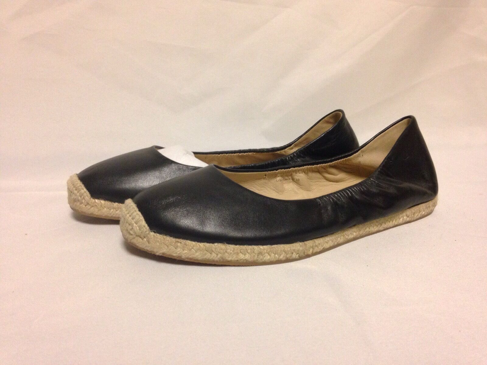 Via Spiga Arnelia Ballet Flat 7.5 M Black Leather  New w  Box