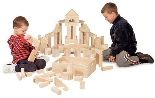 Standard Unit Solid Wood Building Blocks With Wooden Storage Tray 60 pcs