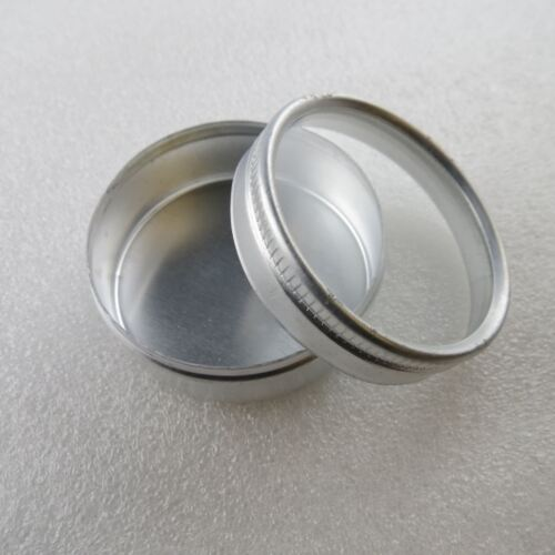 Aluminium Dosen Alu mit transparentem Deckel Box Schale Al Blechdose Metalldose