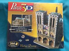 Hasbro Puzz 3D Notre Dame Cathedral 366 Piece Paris France Advanced USA Made NEW