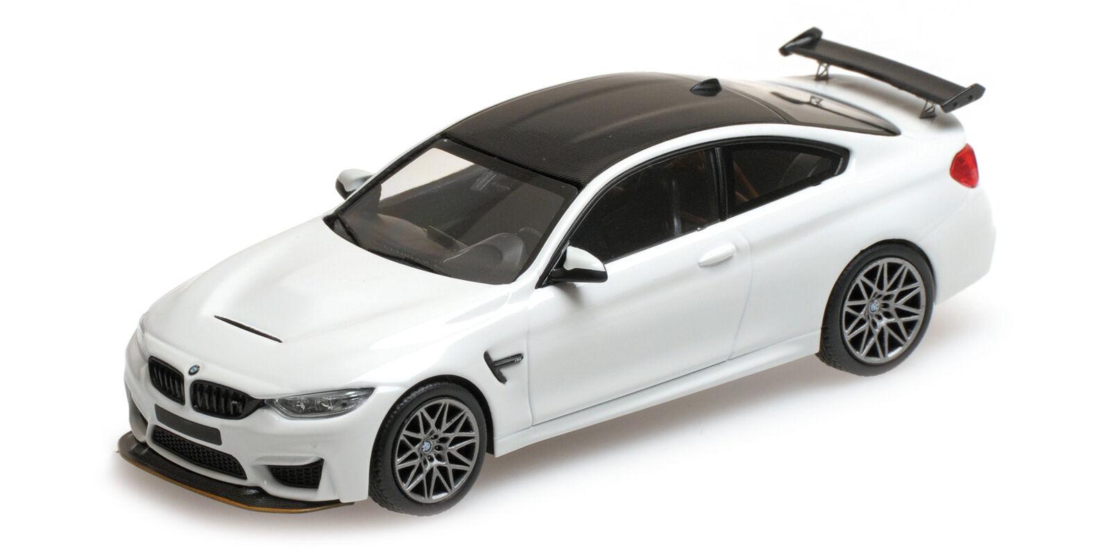 Bmw M4 Gts 2016  blanc W  gris Wheels L.E. 336 Pcs. MINICHAMPS 1 43 410025221