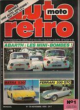 AUTO RETRO 75 DOSSIER 14p ABARTH (595 SS 695 SS 850 TC …), ALFA GIULIA 1600 SS