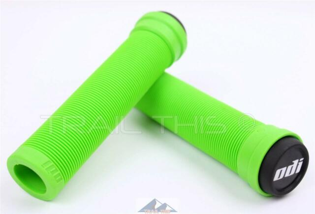 ODI Flangeless Longneck Grips Lime Green 135mm for sale online
