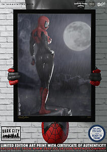 Spidergirl-Spider-Girl-Dark-City-Comic-Art-Print-Series-200-Limited-Edition