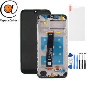 LCD-Ecran-tactile-Huawei-Y5-2019-Noir-Chassis-Frame-Cadre-AMN-LX1-AMN-LX9