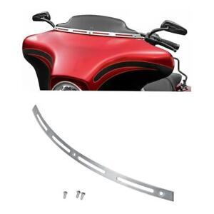 Windshield Windscreen Trim for Harley Touring FLHT FLHX Tri Glide 96-13 Chrome