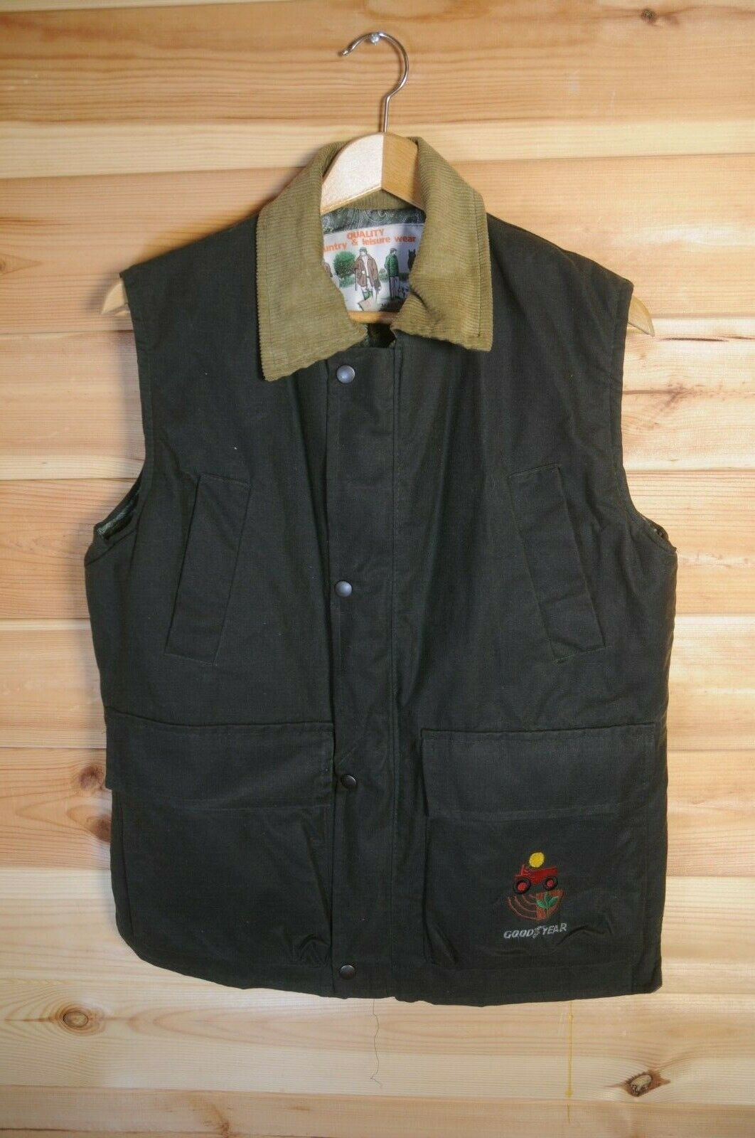 Men's Country Farmer Waxed Hunting Shooting Gilet Waistcoat Vest Insulated S