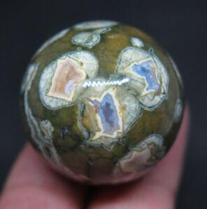 30mm 1.2OZ Natural Rainforest Jasper CRYSTAL Sphere Ball gift