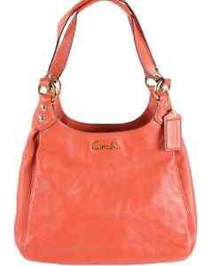 46df4588db NWT Coach Ashley Leather Hobo Handbags Purse F21926 Orange Shoulder ...