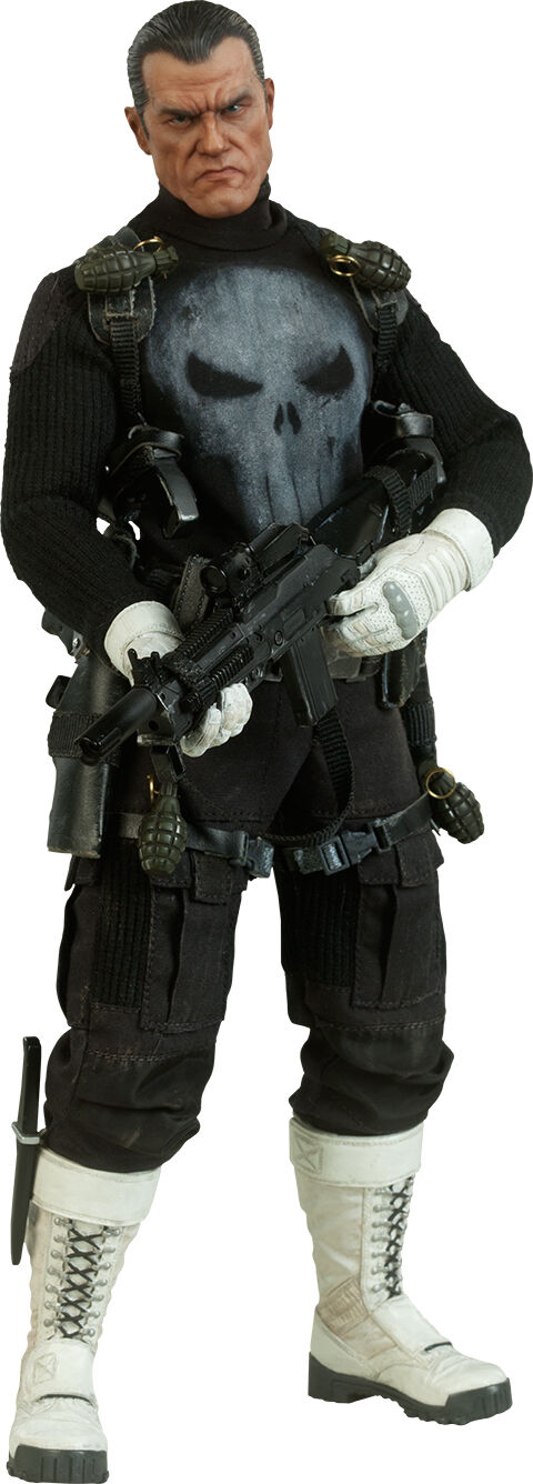 THE PUNISHER - Punisher 1 6th Scale Action Figure (Sideshow Collectibles)  NEW