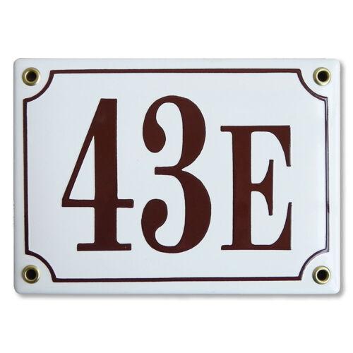 Numéro de rue 10x15 cm plaque emaillée personnaliséeNuméro de maison