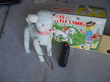 RARE 1950s Alps Japan Battery Operated Mary's Little Lamb Toy MINT in Box