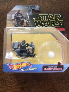 NEW-Hot-Wheels-Star-Wars-Starships-Darth-Maul-039-s-Speeder-Sealed-Unopened-21-3