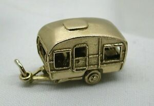 Very-Heavy-Superb-Large-Solid-9ct-Gold-Opening-Caravan-Charm