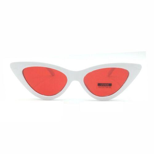 Occhiali da Sole Donna Occhi di Gatto Vintage Bianchi Ovale Cat Eye Eleganti