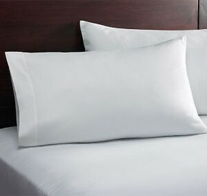 1 white t-180 hotel motel percale standard pillow case 20x32 royal collection