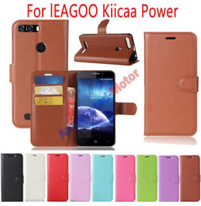 buy popular de936 8b6aa Details about For lEAGOO Kiicaa Power Case PU Leather Flip magnet Cover  Slots Wallet Cover