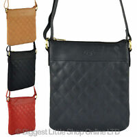 Ladies Soft Quilted Leather Cross Body Bag Gigi Othello Collection Classic