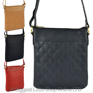 NEW-Ladies-Soft-Quilted-LEATHER-Cross-Body-BAG-GiGi-OTHELLO-Collection-Classic