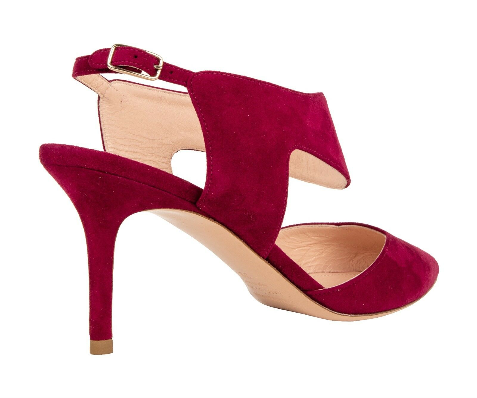 Nicholas Kirkwood shoes Suede Red Red Red Rich Claret 38   8 New w  Box 0dea01