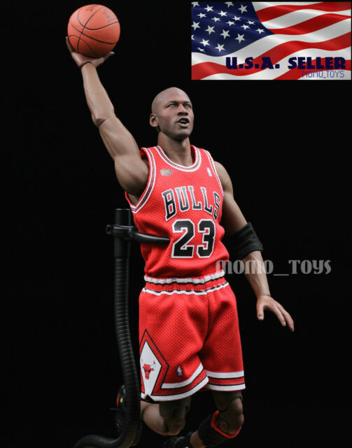 1//6 Michael Jordan Head Sculpt 2.0 For Hot Toys Enterbay Body Model Toy New