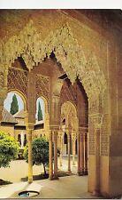 BF14851 granada arcada patio de los leones alhambra  spain front/back image