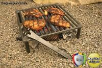 Outdoor Camping Campfire Grill Iron Grate Tripod Open Fire For Cooking Fishing