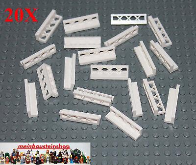 Neu** 30 Stück 1x4x1 3633 Lego Zaun weiss