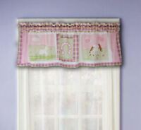 Love My Pony Valance : Girls Pink Horse Shoes Western Window