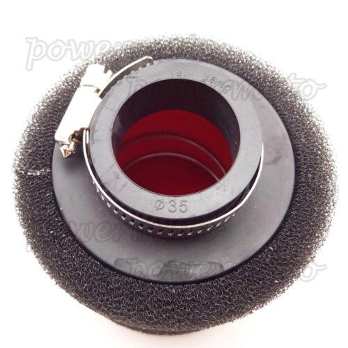35mm Air Filter Clearner For Yamaha DT80 RD80 RD125 RD200 Vintage Pit Motor Bike