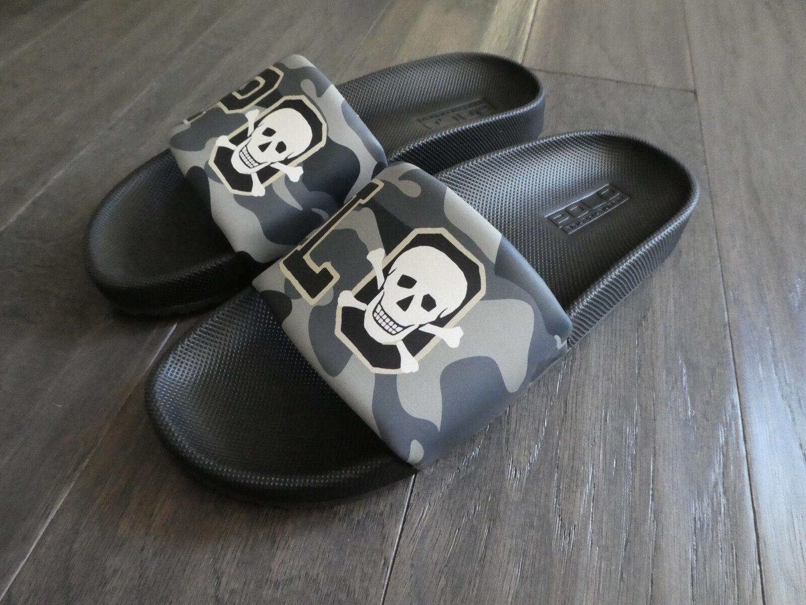 Polo Ralph Lauren Cayson Slide slides shoes new mens sandals Camo Crossbones