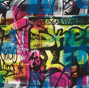 Funky Kids Multicoloured Graffiti Wallpaper 291506 - Free Delivery ...