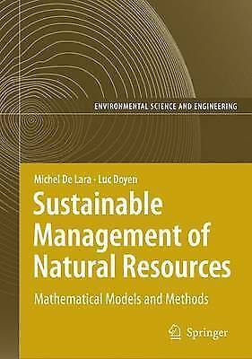 Sustainable Management of Natural Resources: Mathematical Models and Methods...