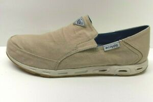 Columbia-PFG-Size-7-Khaki-Loafers-New-Mens-Shoes