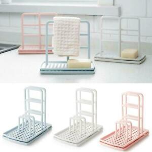 Kitchen-Organizer-Dish-Cloths-Drain-Rack-Clean-Sponge-Holder-Shelf-Storage-Y0W6