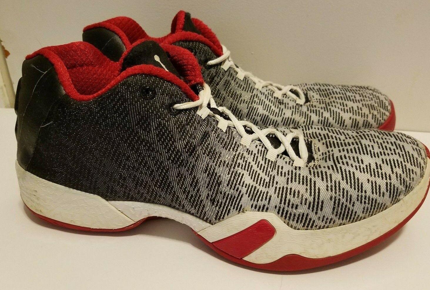 Nike Air Jordan xx9 Lows Black & Red shoes Basketball Men's sz 10.5 828051-101