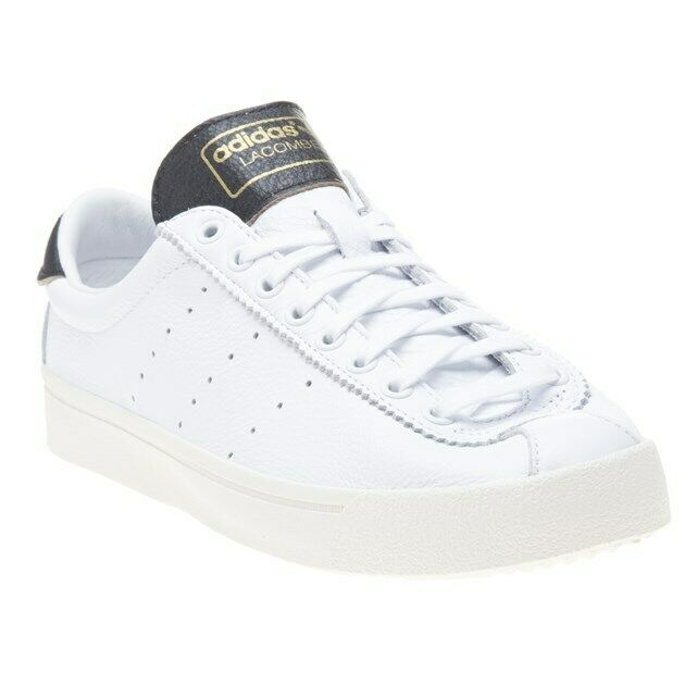 New MENS ADIDAS WHITE LACOMBE LEATHER Sneakers COURT SHOES