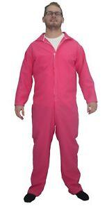 Adults-Pink-Plain-Overalls-Mechanic-Boilersuit-Fancy-Dress