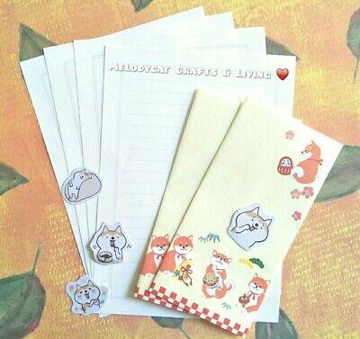 ☘ LETTER WRITING SET PAPER ENVELOPES  BONUS STICKERS