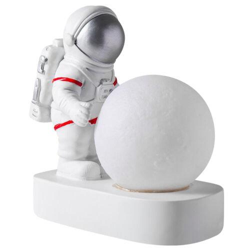 Nachtlicht batterie betriebene led-tisch lampe kalt weiß hell astronauten figur