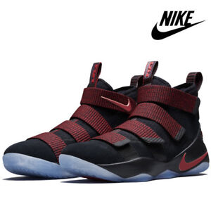 226e63a55395 New NIKE Lebron James Soldier XI Mens Size 13 BLACK RED BRED 897644 ...
