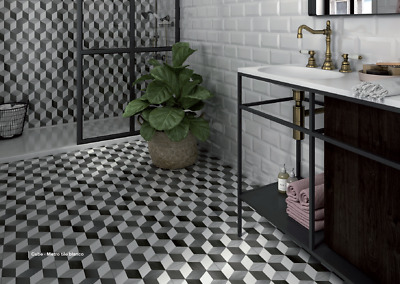 Cube Geometric Tile Porcelain Sample
