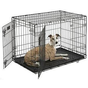Midwest-iCrate-Double-Door-Folding-Dog-Crates