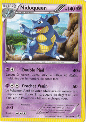 Carte Pokemon Neuve Française 68//160 Nidoqueen XY5:Primo Choc