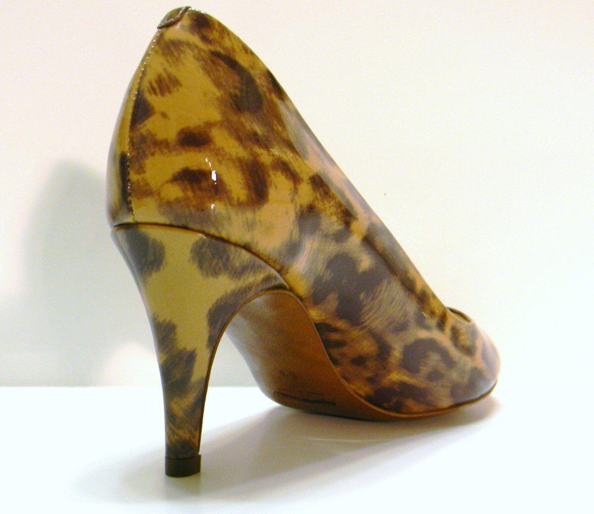 J Crew Drea Leopard Patent Peep-Toe Pumps 64500 Walnut 6.5 228  228 6.5 New 0c0540