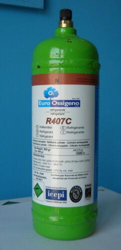 bombola per ricaricare climatizzatori GAS REFRIGERANTE R407C da 1 Lt