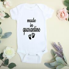 Quarantined Baby Onesie\u00ae funny Baby shower Gift Gerber Hash Tag Whats a few more Quarantined for 9 months Baby Shirt One Piece