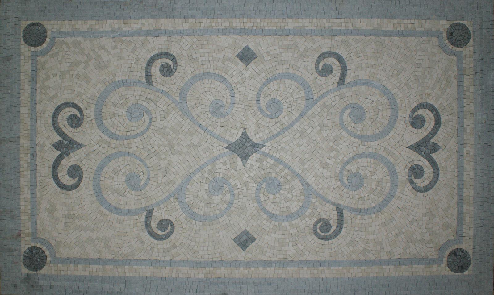 Symmetrical Preternatural Curved Hearts grau Frame  Decor Marble Mosaic CR877